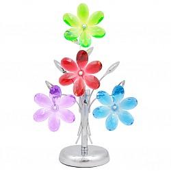 Настольная лампа GloboПолимерные<br>Артикул - GB_51530-1T,Бренд - Globo (Австрия),Коллекция - Rainbow,Гарантия, месяцы - 24,Высота, мм - 370,Тип лампы - компактная люминесцентная [КЛЛ] ИЛИнакаливания ИЛИсветодиодная [LED],Общее кол-во ламп - 1,Напряжение питания лампы, В - 220,Максимальная мощность лампы, Вт - 40,Лампы в комплекте - отсутствуют,Цвет плафонов и подвесок - голубой, зеленый, красный, неокрашенный, сиреневый,Тип поверхности плафонов - прозрачный,Материал плафонов и подвесок - акрил,Цвет арматуры - хром,Тип поверхности арматуры - глянцевый,Материал арматуры - металл,Форма и тип колбы - свеча ИЛИ свеча на ветру,Тип цоколя лампы - E14,Класс электробезопасности - II,Степень пылевлагозащиты, IP - 20,Диапазон рабочих температур - комнатная температура,Дополнительные параметры - провод электропитания с вилкой без заземления<br>