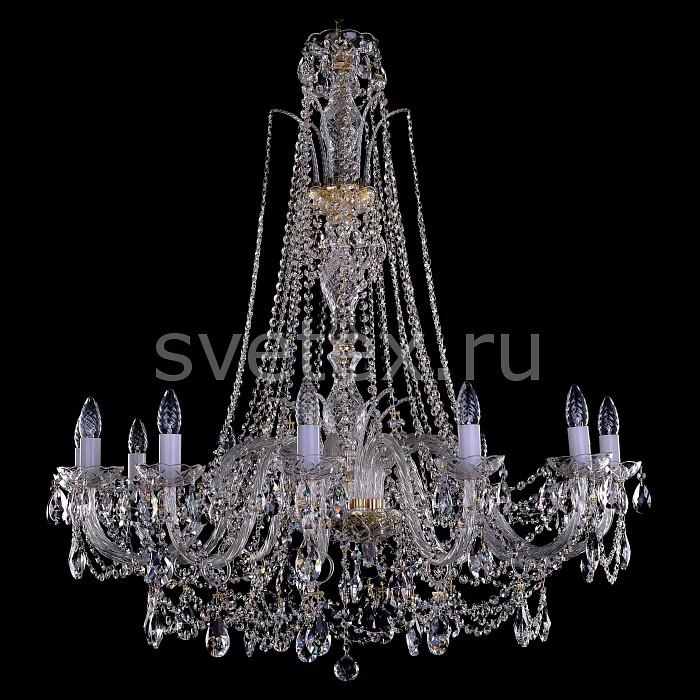 Фото Подвесная люстра Bohemia Ivele Crystal 1411 1411/12/380-115/G