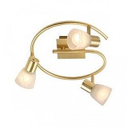 Спот GloboС 3 лампами<br>Артикул - GB_54540-3,Бренд - Globo (Австрия),Коллекция - Raider,Гарантия, месяцы - 24,Диаметр, мм - 290,Тип лампы - компактная люминесцентная [КЛЛ] ИЛИнакаливания ИЛИсветодиодная [LED],Общее кол-во ламп - 3,Напряжение питания лампы, В - 220,Максимальная мощность лампы, Вт - 40,Лампы в комплекте - отсутствуют,Цвет плафонов и подвесок - белый алебастр,Тип поверхности плафонов - матовый,Материал плафонов и подвесок - стекло,Цвет арматуры - латунь,Тип поверхности арматуры - матовый,Материал арматуры - металл,Количество плафонов - 3,Возможность подлючения диммера - можно, если установить лампу накаливания,Тип цоколя лампы - E14,Класс электробезопасности - I,Общая мощность, Вт - 120,Степень пылевлагозащиты, IP - 20,Диапазон рабочих температур - комнатная температура,Дополнительные параметры - поворотный светильник<br>