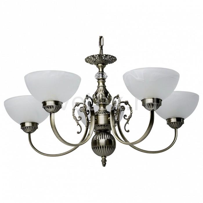 Подвесная люстра MW-LightЛюстры<br>Артикул - MW_318013805,Бренд - MW-Light (Германия),Коллекция - Нора 3,Гарантия, месяцы - 12,Высота, мм - 500 - 800,Диаметр, мм - 600,Размер упаковки, мм - 350x570x150,Тип лампы - компактная люминесцентная [КЛЛ] ИЛИнакаливания ИЛИсветодиодная [LED],Общее кол-во ламп - 5,Напряжение питания лампы, В - 220,Максимальная мощность лампы, Вт - 60,Лампы в комплекте - отсутствуют,Цвет плафонов и подвесок - белый алебастр,Тип поверхности плафонов - матовый,Материал плафонов и подвесок - стекло,Цвет арматуры - бронза античная, неокрашенный,Тип поверхности арматуры - глянцевый, прозрачный,Материал арматуры - металл, хрусталь,Количество плафонов - 5,Возможность подлючения диммера - можно, если установить лампу накаливания,Тип цоколя лампы - E14,Класс электробезопасности - I,Общая мощность, Вт - 300,Степень пылевлагозащиты, IP - 20,Диапазон рабочих температур - комнатная температура,Дополнительные параметры - способ крепления светильника к потолку – на крюке, регулируется по высоте<br>