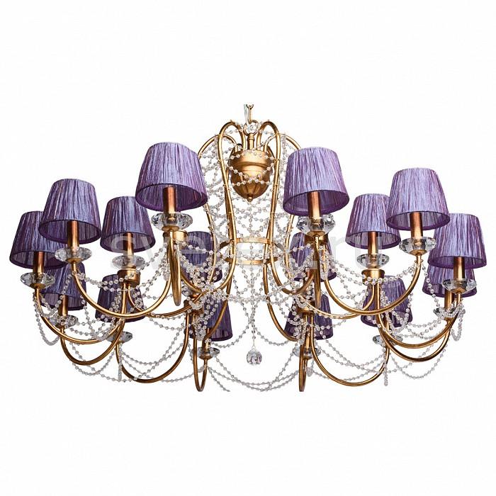 Подвесная люстра ChiaroСветильники<br>Артикул - CH_299011118,Бренд - Chiaro (Германия),Коллекция - Валенсия 1,Гарантия, месяцы - 24,Высота, мм - 950-1550,Диаметр, мм - 1250,Тип лампы - компактная люминесцентная [КЛЛ] ИЛИнакаливания ИЛИсветодиодная [LED],Общее кол-во ламп - 18,Напряжение питания лампы, В - 220,Максимальная мощность лампы, Вт - 40,Лампы в комплекте - отсутствуют,Цвет плафонов и подвесок - аметист, неокрашенный,Тип поверхности плафонов - матовый, прозрачный,Материал плафонов и подвесок - текстиль, хрусталь,Цвет арматуры - бронза античная,Тип поверхности арматуры - матовый,Материал арматуры - металл,Количество плафонов - 18,Возможность подлючения диммера - можно, если установить лампу накаливания,Тип цоколя лампы - E14,Класс электробезопасности - I,Общая мощность, Вт - 720,Степень пылевлагозащиты, IP - 20,Диапазон рабочих температур - комнатная температура,Дополнительные параметры - способ крепления светильника к потолку - на крюке, регулируется по высоте<br>