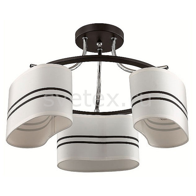 Потолочная люстра LumionСветильники<br>Артикул - LMN_3056_3C,Бренд - Lumion (Италия),Коллекция - Ivara,Гарантия, месяцы - 24,Высота, мм - 280,Диаметр, мм - 400,Размер упаковки, мм - 180x360x360,Тип лампы - компактная люминесцентная [КЛЛ] ИЛИнакаливания ИЛИсветодиодная [LED],Общее кол-во ламп - 3,Напряжение питания лампы, В - 220,Максимальная мощность лампы, Вт - 40,Лампы в комплекте - отсутствуют,Цвет плафонов и подвесок - белый с черными полосками,Тип поверхности плафонов - матовый,Материал плафонов и подвесок - текстиль,Цвет арматуры - черный, хром,Тип поверхности арматуры - матовый,Материал арматуры - металл,Количество плафонов - 3,Возможность подлючения диммера - можно, если установить лампу накаливания,Тип цоколя лампы - E27,Класс электробезопасности - I,Общая мощность, Вт - 120,Степень пылевлагозащиты, IP - 20,Диапазон рабочих температур - комнатная температура,Дополнительные параметры - способ крепления к потолку - на монтажной пластине<br>