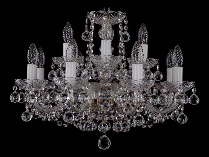 Фото Подвесная люстра Bohemia Ivele Crystal 1402 1402/8_4/195/Pa/Balls