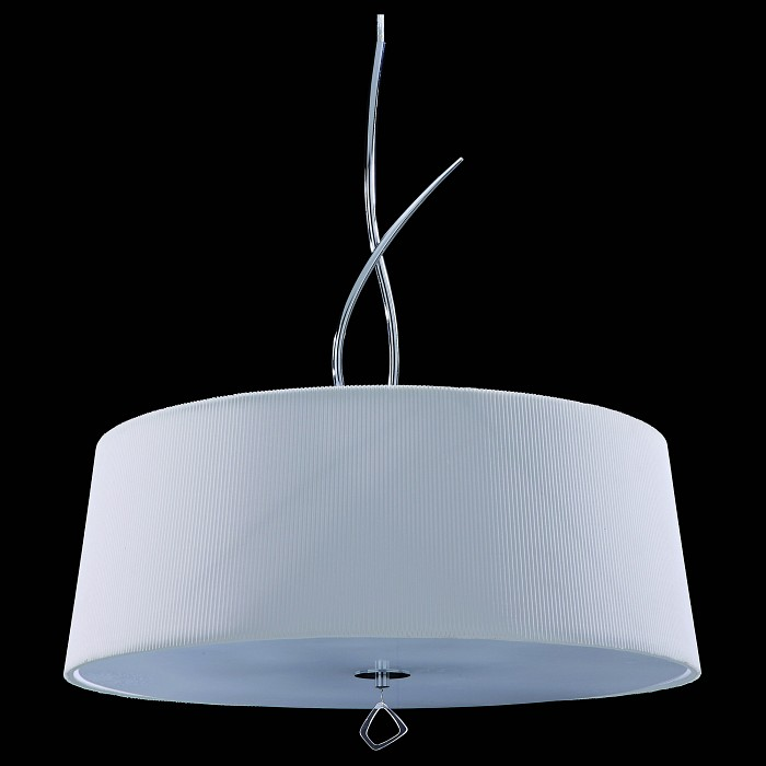 Подвесной светильник MantraСветодиодные<br>Артикул - MN_1644,Бренд - Mantra (Испания),Коллекция - Mara,Гарантия, месяцы - 24,Время изготовления, дней - 1,Высота, мм - 1450-1500,Диаметр, мм - 550,Тип лампы - компактная люминесцентная [КЛЛ] ИЛИсветодиодная [LED],Общее кол-во ламп - 4,Напряжение питания лампы, В - 220,Максимальная мощность лампы, Вт - 20,Лампы в комплекте - отсутствуют,Цвет плафонов и подвесок - белый, неокрашенный,Тип поверхности плафонов - матовый,Материал плафонов и подвесок - ткань с перфорацией, стекло,Цвет арматуры - хром,Тип поверхности арматуры - глянцевый,Материал арматуры - металл,Количество плафонов - 1,Возможность подлючения диммера - нельзя,Тип цоколя лампы - E27,Класс электробезопасности - I,Общая мощность, Вт - 80,Степень пылевлагозащиты, IP - 20,Диапазон рабочих температур - комнатная температура,Дополнительные параметры - высота светильника регулируется<br>