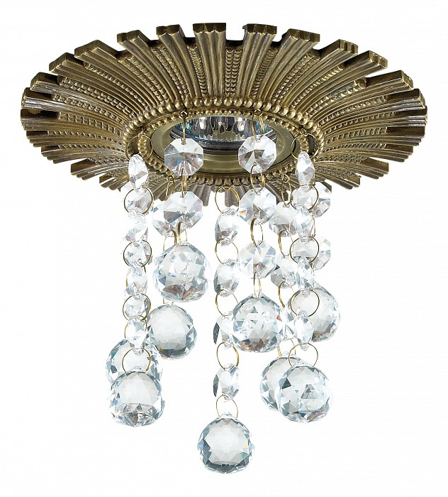 Встраиваемый светильник NovotechХрустальные<br>Артикул - NV_369974,Бренд - Novotech (Венгрия),Коллекция - Grape,Гарантия, месяцы - 24,Время изготовления, дней - 1,Высота, мм - 170,Выступ, мм - 150,Глубина, мм - 20,Диаметр, мм - 150,Размер врезного отверстия, мм - 75,Тип лампы - галогеновая ИЛИсветодиодная [LED],Общее кол-во ламп - 1,Напряжение питания лампы, В - 12,Максимальная мощность лампы, Вт - 50,Лампы в комплекте - отсутствуют,Цвет плафонов и подвесок - неокрашенный,Тип поверхности плафонов - прозрачный,Материал плафонов и подвесок - хрусталь,Цвет арматуры - светлая бронза,Тип поверхности арматуры - глянцевый, рельефный,Материал арматуры - дюралюминий,Возможность подлючения диммера - можно, если установить галогеновую лампу и подключить трансформатор 12 В с возможностью диммирования,Необходимые компоненты - трансформатор 12В,Компоненты, входящие в комплект - нет,Форма и тип колбы - полусферическая с рефлектором,Тип цоколя лампы - GX5.3,Класс электробезопасности - III,Напряжение питания, В - 220,Степень пылевлагозащиты, IP - 20,Диапазон рабочих температур - комнатная температура,Дополнительные параметры - алюминиевое литье<br>