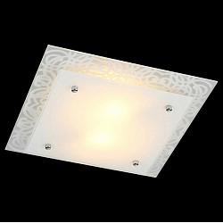 Накладной светильник EurosvetКвадратные<br>Артикул - EV_76390,Бренд - Eurosvet (Китай),Коллекция - Каролина,Гарантия, месяцы - 24,Высота, мм - 100,Тип лампы - компактная люминесцентная [КЛЛ] ИЛИнакаливания ИЛИсветодиодная [LED],Общее кол-во ламп - 2,Напряжение питания лампы, В - 220,Максимальная мощность лампы, Вт - 60,Лампы в комплекте - отсутствуют,Цвет плафонов и подвесок - белый,Тип поверхности плафонов - матовый,Материал плафонов и подвесок - стекло,Цвет арматуры - белый с рисунком, хром,Тип поверхности арматуры - глянцевый, матовый,Материал арматуры - металл,Возможность подлючения диммера - можно, если установить лампу накаливания,Тип цоколя лампы - E27,Класс электробезопасности - I,Общая мощность, Вт - 120,Степень пылевлагозащиты, IP - 20,Диапазон рабочих температур - комнатная температура,Дополнительные параметры - способ крепления светильника к потолку - на монтажной пластине<br>