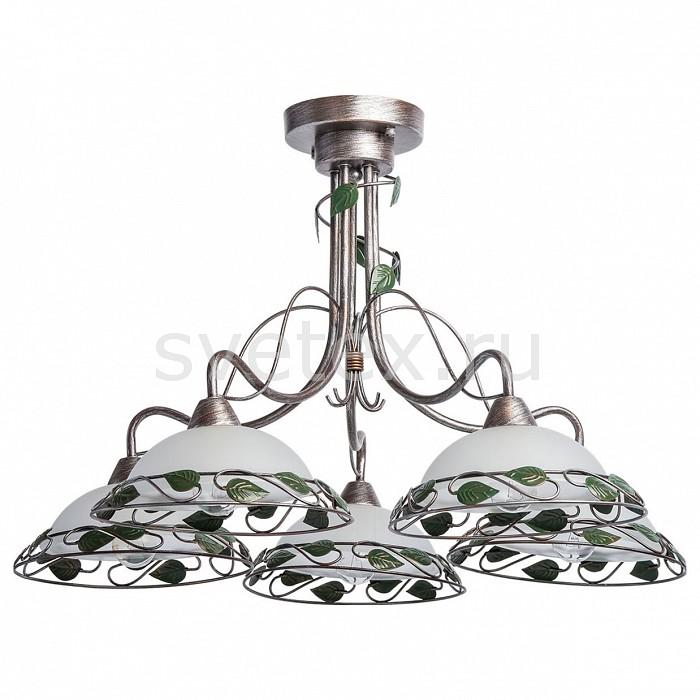 Люстра на штанге MW-LightМеталлические плафоны<br>Артикул - MW_323014905,Бренд - MW-Light (Германия),Коллекция - Аида 1,Гарантия, месяцы - 12,Высота, мм - 450,Диаметр, мм - 720,Размер упаковки, мм - 410x320x280,Тип лампы - компактная люминесцентная [КЛЛ] ИЛИнакаливания ИЛИсветодиодная [LED],Общее кол-во ламп - 5,Напряжение питания лампы, В - 220,Максимальная мощность лампы, Вт - 60,Лампы в комплекте - отсутствуют,Цвет плафонов и подвесок - белый, зеленый, кофе с серебряной патиной,Тип поверхности плафонов - матовый,Материал плафонов и подвесок - металл, стекло,Цвет арматуры - зеленый, кофе с серебряной патиной,Тип поверхности арматуры - матовый,Материал арматуры - металл,Количество плафонов - 5,Возможность подлючения диммера - можно, если установить лампу накаливания,Тип цоколя лампы - E14,Класс электробезопасности - I,Общая мощность, Вт - 300,Степень пылевлагозащиты, IP - 20,Диапазон рабочих температур - комнатная температура,Дополнительные параметры - способ крепления светильника к потолку – на монтажной пластине<br>