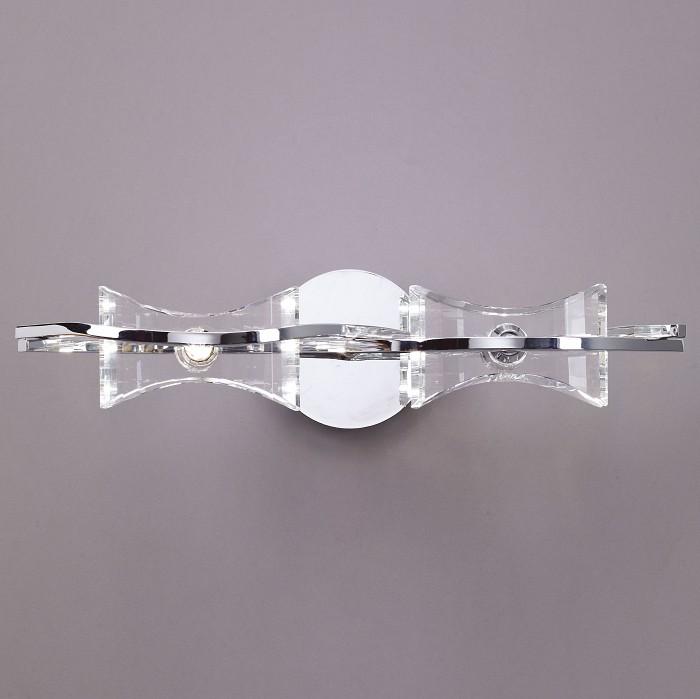 Накладной светильник MantraНастенные светильники<br>Артикул - MN_0893,Бренд - Mantra (Испания),Коллекция - Krom Cromo,Гарантия, месяцы - 24,Время изготовления, дней - 1,Длина, мм - 480,Ширина, мм - 120,Выступ, мм - 190,Тип лампы - галогеновая,Общее кол-во ламп - 2,Напряжение питания лампы, В - 220,Максимальная мощность лампы, Вт - 40,Цвет лампы - белый теплый,Лампы в комплекте - галогеновые G9,Цвет плафонов и подвесок - неокрашенный,Тип поверхности плафонов - прозрачный,Материал плафонов и подвесок - стекло,Цвет арматуры - хром,Тип поверхности арматуры - глянцевый,Материал арматуры - металл,Количество плафонов - 2,Возможность подлючения диммера - можно,Форма и тип колбы - пальчиковая,Тип цоколя лампы - G9,Цветовая температура, K - 2800 - 3200 K,Экономичнее лампы накаливания - на 50%,Класс электробезопасности - I,Общая мощность, Вт - 80,Степень пылевлагозащиты, IP - 20,Диапазон рабочих температур - комнатная температура<br>