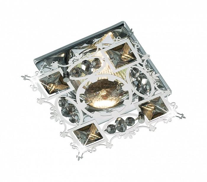 Встраиваемый светильник NovotechСветильники для натяжных потолков<br>Артикул - NV_369502,Бренд - Novotech (Венгрия),Коллекция - Aurora,Гарантия, месяцы - 24,Время изготовления, дней - 1,Длина, мм - 95,Ширина, мм - 95,Глубина, мм - 30,Размер врезного отверстия, мм - 60,Тип лампы - галогеновая ИЛИсветодиодная [LED],Общее кол-во ламп - 1,Напряжение питания лампы, В - 12,Максимальная мощность лампы, Вт - 50,Лампы в комплекте - отсутствуют,Цвет плафонов и подвесок - табако, хром,Тип поверхности плафонов - прозрачный,Материал плафонов и подвесок - металл, хрусталь,Цвет арматуры - хром,Тип поверхности арматуры - глянцевый,Материал арматуры - металл,Количество плафонов - 1,Возможность подлючения диммера - можно, если установить галогеновую лампу,Форма и тип колбы - полусферическая с рефлектором ИЛИполусферическая с радиатором,Тип цоколя лампы - GX5.3,Экономичнее лампы накаливания - на 50%,Класс электробезопасности - I,Напряжение питания, В - 220,Степень пылевлагозащиты, IP - 20,Диапазон рабочих температур - комнатная температура,Дополнительные параметры - возможна установка лампы GX5.3 (MR-16) на 12 В с подключением через трансформатор 12 В<br>