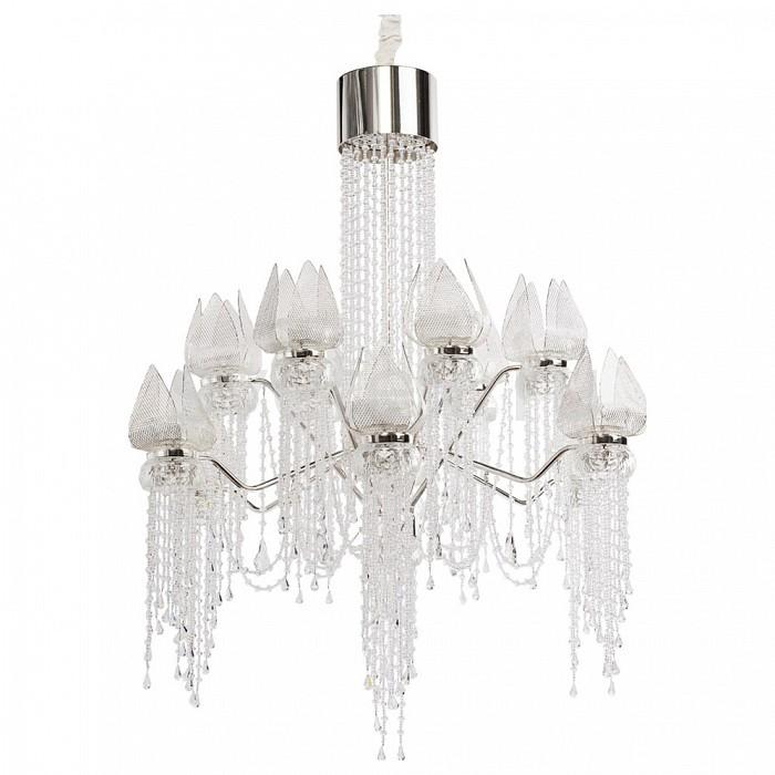 Подвесная люстра ChiaroМеталлические плафоны<br>Артикул - CH_625010228,Бренд - Chiaro (Германия),Коллекция - Лотос в водопаде,Гарантия, месяцы - 24,Высота, мм - 1180-1530,Диаметр, мм - 720,Размер упаковки, мм - 700x550x220,Тип лампы - светодиодная [LED],Общее кол-во ламп - 28,Максимальная мощность лампы, Вт - 3,Цвет лампы - белый теплый,Лампы в комплекте - светодиодные [LED],Цвет плафонов и подвесок - неокрашенный, серебро,Тип поверхности плафонов - глянцевый, прозрачный,Материал плафонов и подвесок - металл, хрусталь,Цвет арматуры - серебро,Тип поверхности арматуры - глянцевый,Материал арматуры - металл,Количество плафонов - 12,Возможность подлючения диммера - нельзя,Цветовая температура, K - 3000 K,Световой поток, лм - 1988,Экономичнее лампы накаливания - в 4.7 раза,Светоотдача, лм/Вт - 24,Класс электробезопасности - I,Напряжение питания, В - 220,Общая мощность, Вт - 84,Степень пылевлагозащиты, IP - 20,Диапазон рабочих температур - комнатная температура<br>