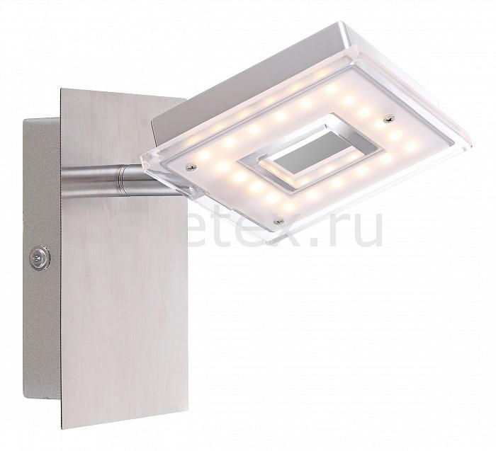 Спот GloboСпоты<br>Артикул - GB_56138-1,Бренд - Globo (Австрия),Коллекция - Kerstin,Гарантия, месяцы - 24,Длина, мм - 150,Ширина, мм - 90,Выступ, мм - 130,Размер упаковки, мм - 100x80x145,Тип лампы - светодиодная [LED],Общее кол-во ламп - 1,Напряжение питания лампы, В - 130,Максимальная мощность лампы, Вт - 4, 2,Цвет лампы - белый теплый,Лампы в комплекте - светодиодная [LED],Цвет плафонов и подвесок - белый с неокрашенной каймой,Тип поверхности плафонов - матовый,Материал плафонов и подвесок - акрил,Цвет арматуры - никель, хром,Тип поверхности арматуры - глянцевый, матовый,Материал арматуры - металл,Количество плафонов - 1,Возможность подлючения диммера - нельзя,Компоненты, входящие в комплект - трансформатор 130В,Цветовая температура, K - 3000 K,Световой поток, лм - 290,Экономичнее лампы накаливания - в 7.9 раза,Светоотдача, лм/Вт - 69,Класс электробезопасности - I,Напряжение питания, В - 220,Степень пылевлагозащиты, IP - 20,Диапазон рабочих температур - комнатная температура,Дополнительные параметры - способ крепления светильника к стене и потолку - на монтажной пластине, поворотный светильник<br>