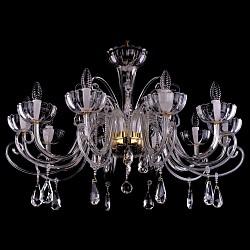 Подвесная люстра Bohemia Ivele CrystalБолее 6 ламп<br>Артикул - BI_1333_10_380_G,Бренд - Bohemia Ivele Crystal (Чехия),Коллекция - 1333,Гарантия, месяцы - 24,Высота, мм - 600,Диаметр, мм - 950,Размер упаковки, мм - 640x640x320,Тип лампы - компактная люминесцентная [КЛЛ] ИЛИнакаливания ИЛИсветодиодная [LED],Общее кол-во ламп - 10,Напряжение питания лампы, В - 220,Максимальная мощность лампы, Вт - 40,Лампы в комплекте - отсутствуют,Цвет плафонов и подвесок - неокрашенный,Тип поверхности плафонов - прозрачный,Материал плафонов и подвесок - хрусталь,Цвет арматуры - золото, неокрашенный,Тип поверхности арматуры - глянцевый, прозрачный,Материал арматуры - металл, стекло,Возможность подлючения диммера - можно, если установить лампу накаливания,Форма и тип колбы - свеча,Тип цоколя лампы - E14,Класс электробезопасности - I,Общая мощность, Вт - 400,Степень пылевлагозащиты, IP - 20,Диапазон рабочих температур - комнатная температура,Дополнительные параметры - способ крепления светильника к потолку – на крюке<br>