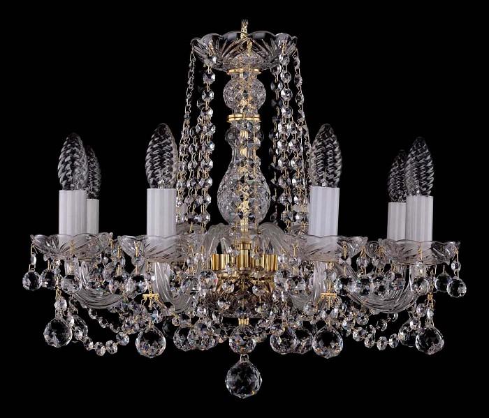 Фото Подвесная люстра Bohemia Ivele Crystal 1402 1402/8/160/G/Balls