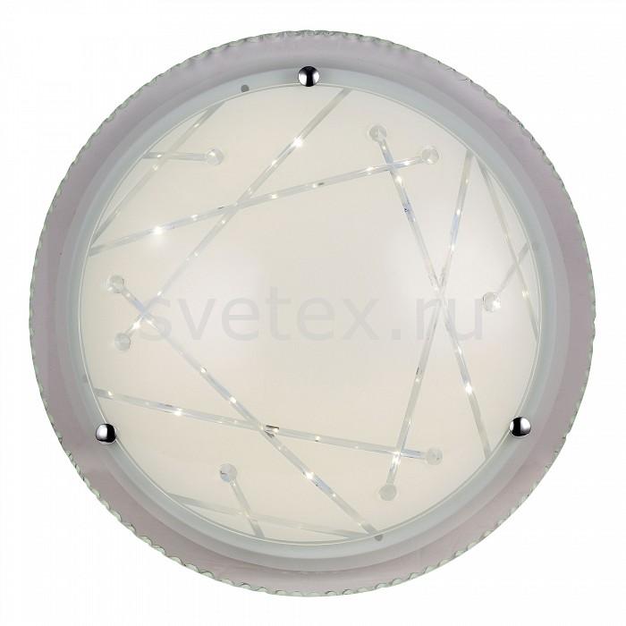 Накладной светильник ST-LuceКруглые<br>Артикул - SL493.552.01,Бренд - ST-Luce (Китай),Коллекция - Universale,Гарантия, месяцы - 24,Высота, мм - 125,Диаметр, мм - 500,Размер упаковки, мм - 555x555x195,Тип лампы - светодиодная [LED],Общее кол-во ламп - 1,Максимальная мощность лампы, Вт - 32,Цвет лампы - белый теплый,Лампы в комплекте - светодиодная [LED],Цвет плафонов и подвесок - белый с рисунком,Тип поверхности плафонов - матовый, прозрачный,Материал плафонов и подвесок - стекло,Цвет арматуры - хром,Тип поверхности арматуры - глянцевый, матовый,Материал арматуры - металл,Количество плафонов - 1,Возможность подлючения диммера - нельзя,Цветовая температура, K - 3000 K,Экономичнее лампы накаливания - в 10 раз,Класс электробезопасности - I,Напряжение питания, В - 220,Степень пылевлагозащиты, IP - 20,Диапазон рабочих температур - комнатная температура,Дополнительные параметры - способ крепления светильника к потолку – на монтажной пластине<br>
