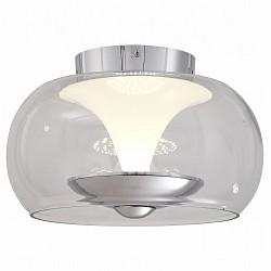 Накладной светильник ST-LuceКруглые<br>Артикул - SL477.102.01,Бренд - ST-Luce (Китай),Коллекция - Sobrio,Гарантия, месяцы - 24,Высота, мм - 220,Диаметр, мм - 300,Тип лампы - светодиодная [LED],Общее кол-во ламп - 1,Напряжение питания лампы, В - 220,Максимальная мощность лампы, Вт - 15,Лампы в комплекте - светодиодная [LED],Цвет плафонов и подвесок - белый, неокрашенный,Тип поверхности плафонов - матовый, прозрачный,Материал плафонов и подвесок - стекло,Цвет арматуры - хром,Тип поверхности арматуры - глянцевый,Материал арматуры - металл,Количество плафонов - 1,Возможность подлючения диммера - нельзя,Класс электробезопасности - I,Степень пылевлагозащиты, IP - 20,Диапазон рабочих температур - комнатная температура,Дополнительные параметры - способ крепления светильника к потолку – на монтажной пластине<br>
