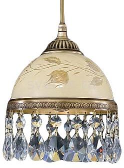 Подвесной светильник Reccagni AngeloБарные<br>Артикул - RA_L_6206_16,Бренд - Reccagni Angelo (Италия),Коллекция - 6206,Гарантия, месяцы - 24,Высота, мм - 200-1300,Диаметр, мм - 160,Тип лампы - компактная люминесцентная [КЛЛ] ИЛИнакаливания ИЛИсветодиодная [LED],Общее кол-во ламп - 1,Напряжение питания лампы, В - 220,Максимальная мощность лампы, Вт - 60,Лампы в комплекте - отсутствуют,Цвет плафонов и подвесок - бежевый с рисунком и каймой, неокрашенный,Тип поверхности плафонов - матовый, прозрачный,Материал плафонов и подвесок - стекло, хрусталь,Цвет арматуры - бронза состаренная,Тип поверхности арматуры - матовый, рельефный,Материал арматуры - латунь,Количество плафонов - 1,Возможность подлючения диммера - можно, если установить лампу накаливания,Тип цоколя лампы - E27,Класс электробезопасности - I,Степень пылевлагозащиты, IP - 20,Диапазон рабочих температур - комнатная температура,Дополнительные параметры - способ крепления светильника к потолку - на крюке, регулируется по высоте<br>
