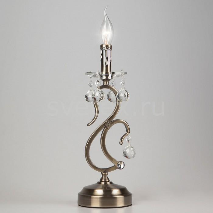 Фото Настольная лампа Eurosvet E14 220В 40Вт 12505 12505/1T античная бронза Strotskis