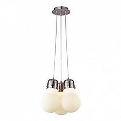 Подвесной светильник ST-LuceБарные<br>Артикул - SL299.053.03,Бренд - ST-Luce (Китай),Коллекция - Buld,Гарантия, месяцы - 24,Высота, мм - 300-1200,Диаметр, мм - 320,Размер упаковки, мм - 360x360x210,Тип лампы - компактная люминесцентная [КЛЛ] ИЛИнакаливания ИЛИсветодиодная [LED],Общее кол-во ламп - 3,Напряжение питания лампы, В - 220,Максимальная мощность лампы, Вт - 60,Лампы в комплекте - отсутствуют,Цвет плафонов и подвесок - белый,Тип поверхности плафонов - матовый,Материал плафонов и подвесок - стекло,Цвет арматуры - никель,Тип поверхности арматуры - сатин,Материал арматуры - металл,Возможность подлючения диммера - можно, если установить лампу накаливания,Тип цоколя лампы - E27,Класс электробезопасности - I,Общая мощность, Вт - 180,Степень пылевлагозащиты, IP - 20,Диапазон рабочих температур - комнатная температура,Дополнительные параметры - способ крепления светильника к потолку – на монтажной пластине, регулируется по высоте<br>