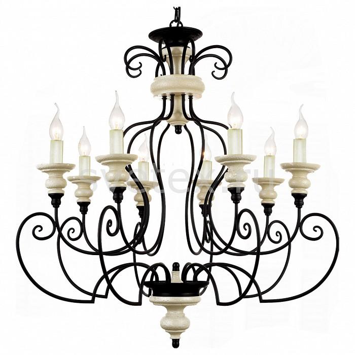 Подвесная люстра FavouriteЛюстры<br>Артикул - FV_1405-8P,Бренд - Favourite (Германия),Коллекция - Corfu,Гарантия, месяцы - 24,Время изготовления, дней - 1,Высота, мм - 820-1820,Диаметр, мм - 800,Тип лампы - компактная люминесцентная [КЛЛ] ИЛИнакаливания ИЛИсветодиодная [LED],Общее кол-во ламп - 8,Напряжение питания лампы, В - 220,Максимальная мощность лампы, Вт - 40,Лампы в комплекте - отсутствуют,Цвет арматуры - бежевый, темно-коричневый,Тип поверхности арматуры - матовый,Материал арматуры - гипс, металл,Форма и тип колбы - свеча ИЛИ свеча на ветру,Тип цоколя лампы - E14,Класс электробезопасности - I,Общая мощность, Вт - 320,Степень пылевлагозащиты, IP - 20,Диапазон рабочих температур - комнатная температура,Дополнительные параметры - способ крепления светильника к потолку – на крюке<br>