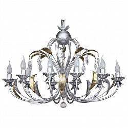 Подвесная люстра IDLampБолее 6 ламп<br>Артикул - ID_241_10-Silvergold,Бренд - IDLamp (Италия),Коллекция - 241,Гарантия, месяцы - 24,Высота, мм - 500 - 1500,Тип лампы - компактная люминесцентная [КЛЛ] ИЛИнакаливания ИЛИсветодиодная [LED],Общее кол-во ламп - 10,Напряжение питания лампы, В - 220,Максимальная мощность лампы, Вт - 40,Лампы в комплекте - отсутствуют,Цвет плафонов и подвесок - неокрашенный,Тип поверхности плафонов - прозрачный,Материал плафонов и подвесок - хрусталь,Цвет арматуры - золото, серебро,Тип поверхности арматуры - глянцевый,Материал арматуры - металл,Возможность подлючения диммера - можно, если установить лампу накаливания,Тип цоколя лампы - E14,Общая мощность, Вт - 400,Степень пылевлагозащиты, IP - 20,Диапазон рабочих температур - комнатная температура,Дополнительные параметры - указана высота светильника без подвеса<br>