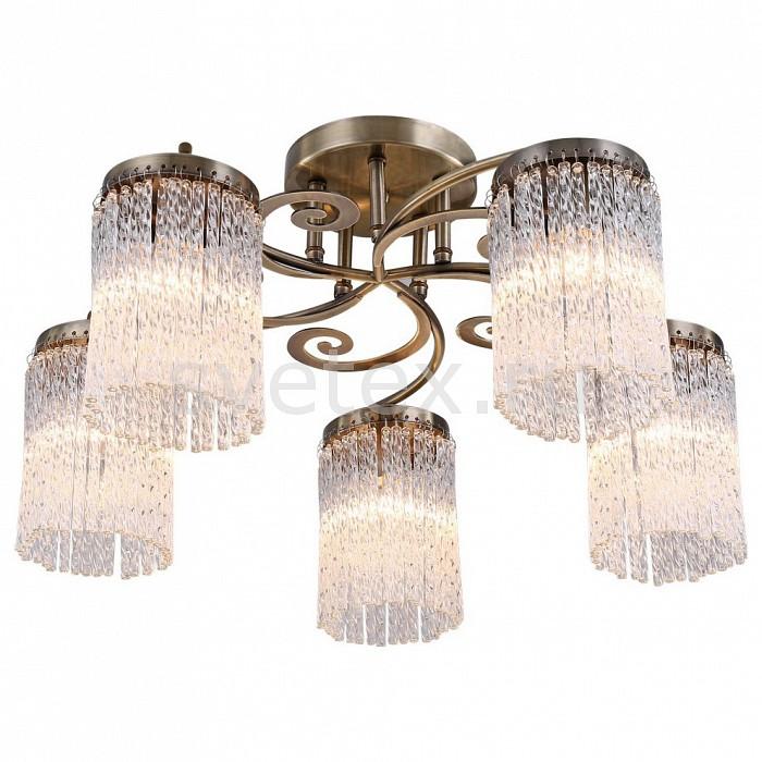 Потолочная люстра Arte Lamp5 или 6 ламп<br>Артикул - AR_A1576PL-5AB,Бренд - Arte Lamp (Италия),Коллекция - Spruzzo,Гарантия, месяцы - 24,Время изготовления, дней - 1,Высота, мм - 320,Диаметр, мм - 550,Тип лампы - компактная люминесцентная [КЛЛ] ИЛИнакаливания ИЛИсветодиодная [LED],Общее кол-во ламп - 5,Напряжение питания лампы, В - 220,Максимальная мощность лампы, Вт - 60,Лампы в комплекте - отсутствуют,Цвет плафонов и подвесок - неокрашенный,Тип поверхности плафонов - глянцевый,Материал плафонов и подвесок - стекло,Цвет арматуры - бронза античная,Тип поверхности арматуры - глянцевый,Материал арматуры - металл,Возможность подлючения диммера - можно, если установить лампу накаливания,Тип цоколя лампы - E14,Класс электробезопасности - I,Общая мощность, Вт - 300,Степень пылевлагозащиты, IP - 20,Диапазон рабочих температур - комнатная температура,Дополнительные параметры - способ крепления светильника к потолку – на монтажной пластине<br>