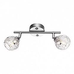 Спот GloboС 2 лампами<br>Артикул - GB_5669-2,Бренд - Globo (Австрия),Коллекция - Sinclair,Гарантия, месяцы - 24,Время изготовления, дней - 1,Размер упаковки, мм - 130x500x500,Тип лампы - галогеновая,Общее кол-во ламп - 2,Напряжение питания лампы, В - 220,Максимальная мощность лампы, Вт - 33,Лампы в комплекте - галогеновые G9,Цвет плафонов и подвесок - неокрашенный, хром,Тип поверхности плафонов - глянцевый, рельефный,Материал плафонов и подвесок - металл, хрусталь,Цвет арматуры - никель,Тип поверхности арматуры - матовый,Материал арматуры - металл,Возможность подлючения диммера - можно,Форма и тип колбы - пальчиковая,Тип цоколя лампы - G9,Класс электробезопасности - I,Общая мощность, Вт - 66,Степень пылевлагозащиты, IP - 20,Диапазон рабочих температур - комнатная температура,Дополнительные параметры - поворотный светильник, диаметр плафона 75 мм<br>