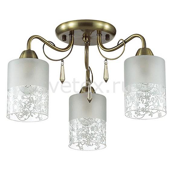 Потолочная люстра LumionЛюстры<br>Артикул - LMN_3262_3C,Бренд - Lumion (Италия),Коллекция - Imani,Гарантия, месяцы - 24,Высота, мм - 250,Диаметр, мм - 450,Размер упаковки, мм - 200x370x170,Тип лампы - компактная люминесцентная [КЛЛ] ИЛИнакаливания ИЛИсветодиодная [LED],Общее кол-во ламп - 3,Напряжение питания лампы, В - 220,Максимальная мощность лампы, Вт - 60,Лампы в комплекте - отсутствуют,Цвет плафонов и подвесок - белый с рисунком, неокрашенный,Тип поверхности плафонов - матовый, прозрачный,Материал плафонов и подвесок - стекло, хрусталь,Цвет арматуры - бронза,Тип поверхности арматуры - матовый, металлик,Материал арматуры - металл,Количество плафонов - 3,Возможность подлючения диммера - можно, если установить лампу накаливания,Тип цоколя лампы - E14,Класс электробезопасности - I,Общая мощность, Вт - 180,Степень пылевлагозащиты, IP - 20,Диапазон рабочих температур - комнатная температура,Дополнительные параметры - способ крепления к потолку - на монтажной пластине<br>