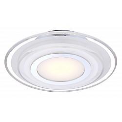 Накладной светильник GloboКруглые<br>Артикул - GB_41683-3,Бренд - Globo (Австрия),Коллекция - Amos,Гарантия, месяцы - 24,Время изготовления, дней - 1,Высота, мм - 65,Диаметр, мм - 320,Тип лампы - светодиодная [LED],Общее кол-во ламп - 1,Напряжение питания лампы, В - 17,Максимальная мощность лампы, Вт - 9,Лампы в комплекте - светодиодная [LED],Цвет плафонов и подвесок - белый с неокрашенной каймой, хром,Тип поверхности плафонов - матовый,Материал плафонов и подвесок - металл, стекло,Цвет арматуры - хром,Тип поверхности арматуры - глянцевый,Материал арматуры - металл,Возможность подлючения диммера - нельзя,Класс электробезопасности - I,Степень пылевлагозащиты, IP - 20,Диапазон рабочих температур - комнатная температура<br>
