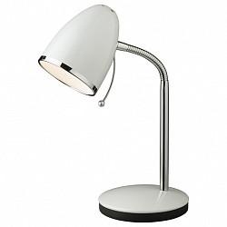 Настольная лампа Odeon LightМеталлический плафон<br>Артикул - OD_2329_1T,Бренд - Odeon Light (Италия),Коллекция - Luri,Гарантия, месяцы - 24,Время изготовления, дней - 1,Высота, мм - 280,Диаметр, мм - 135,Тип лампы - компактная люминесцентная [КЛЛ] ИЛИнакаливания ИЛИсветодиодная [LED],Общее кол-во ламп - 1,Напряжение питания лампы, В - 220,Максимальная мощность лампы, Вт - 40,Лампы в комплекте - отсутствуют,Цвет плафонов и подвесок - белый с каймой,Тип поверхности плафонов - глянцевый,Материал плафонов и подвесок - металл,Цвет арматуры - белый, хром,Тип поверхности арматуры - глянцевый,Материал арматуры - металл,Тип цоколя лампы - E27,Класс электробезопасности - II,Степень пылевлагозащиты, IP - 20,Диапазон рабочих температур - комнатная температура,Дополнительные параметры - поворотный светильник:высота плафона 120 мм, диаметр плафона 95 мм<br>