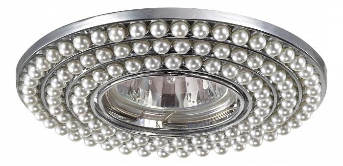 Встраиваемый светильник NovotechВстраиваемые светильники<br>Артикул - NV_370141,Бренд - Novotech (Венгрия),Коллекция - Pearl,Гарантия, месяцы - 24,Время изготовления, дней - 1,Глубина, мм - 16,Диаметр, мм - 115,Размер врезного отверстия, мм - 65,Тип лампы - галогеновая ИЛИсветодиодная [LED],Общее кол-во ламп - 1,Напряжение питания лампы, В - 12,Максимальная мощность лампы, Вт - 50,Лампы в комплекте - отсутствуют,Цвет арматуры - белый, хром,Тип поверхности арматуры - глянцевый, рельефный,Материал арматуры - искусственный жемчуг, цинк,Необходимые компоненты - трансформатор 12В,Компоненты, входящие в комплект - нет,Форма и тип колбы - полусферическая с рефлектором,Тип цоколя лампы - GX5.3,Класс электробезопасности - III,Напряжение питания, В - 220,Степень пылевлагозащиты, IP - 20,Диапазон рабочих температур - комнатная температура<br>