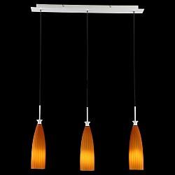 Подвесной светильник MaytoniБарные<br>Артикул - MY_F701-03-R,Бренд - Maytoni (Германия),Коллекция - Toot,Гарантия, месяцы - 24,Высота, мм - 300-1830,Тип лампы - компактная люминесцентная [КЛЛ] ИЛИнакаливания ИЛИсветодиодная [LED],Общее кол-во ламп - 3,Напряжение питания лампы, В - 220,Максимальная мощность лампы, Вт - 40,Лампы в комплекте - отсутствуют,Цвет плафонов и подвесок - оранжевый полосатый,Тип поверхности плафонов - матовый, рельефный,Материал плафонов и подвесок - стекло,Цвет арматуры - хром,Тип поверхности арматуры - глянцевый,Материал арматуры - металл,Возможность подлючения диммера - можно, если установить лампу накаливания,Тип цоколя лампы - E27,Класс электробезопасности - I,Общая мощность, Вт - 120,Степень пылевлагозащиты, IP - 20,Диапазон рабочих температур - комнатная температура,Дополнительные параметры - способ крепления светильника к потолку - на монтажной пластине, регулируется по высоте<br>