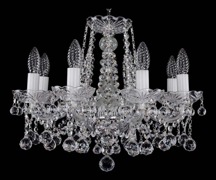 Фото Подвесная люстра Bohemia Ivele Crystal 1413 1413/8/165/Ni/Balls