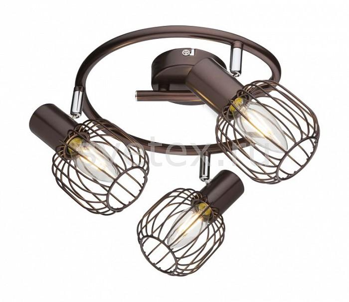 Спот GloboСпоты<br>Артикул - GB_54801-3,Бренд - Globo (Австрия),Коллекция - Akin,Гарантия, месяцы - 24,Выступ, мм - 150,Диаметр, мм - 480,Тип лампы - компактная люминесцентная [КЛЛ] ИЛИнакаливания ИЛИсветодиодная [LED],Общее кол-во ламп - 3,Напряжение питания лампы, В - 220,Максимальная мощность лампы, Вт - 40,Лампы в комплекте - отсутствуют,Цвет плафонов и подвесок - кофейный,Тип поверхности плафонов - матовый,Материал плафонов и подвесок - металл,Цвет арматуры - кофейный,Тип поверхности арматуры - матовый,Материал арматуры - металл,Количество плафонов - 3,Возможность подлючения диммера - можно, если установить лампу накаливания,Тип цоколя лампы - E14,Класс электробезопасности - I,Общая мощность, Вт - 120,Степень пылевлагозащиты, IP - 20,Диапазон рабочих температур - комнатная температура,Дополнительные параметры - способ крепления светильника к потолку и стене - на монтажной пластине, поворотный светильник<br>