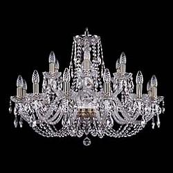 Подвесная люстра Bohemia Ivele CrystalБолее 6 ламп<br>Артикул - BI_1406_12_6_300_Pa,Бренд - Bohemia Ivele Crystal (Чехия),Коллекция - 1406,Гарантия, месяцы - 24,Высота, мм - 580,Диаметр, мм - 820,Размер упаковки, мм - 710x710x350,Тип лампы - компактная люминесцентная [КЛЛ] ИЛИнакаливания ИЛИсветодиодная [LED],Общее кол-во ламп - 18,Напряжение питания лампы, В - 220,Максимальная мощность лампы, Вт - 40,Лампы в комплекте - отсутствуют,Цвет плафонов и подвесок - неокрашенный,Тип поверхности плафонов - прозрачный,Материал плафонов и подвесок - хрусталь,Цвет арматуры - золото с патиной, неокрашенный,Тип поверхности арматуры - глянцевый, прозрачный, рельефный,Материал арматуры - металл, стекло,Возможность подлючения диммера - можно, если установить лампу накаливания,Форма и тип колбы - свеча ИЛИ свеча на ветру,Тип цоколя лампы - E14,Класс электробезопасности - I,Общая мощность, Вт - 720,Степень пылевлагозащиты, IP - 20,Диапазон рабочих температур - комнатная температура,Дополнительные параметры - способ крепления светильника к потолку - на крюке, указана высота светильника без подвеса<br>