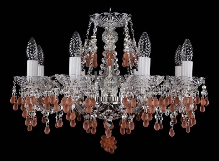Фото Подвесная люстра Bohemia Ivele Crystal 1410 1410/8/195/Ni/7010