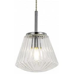 Подвесной светильник Arte LampСветодиодные<br>Артикул - AR_A9146SP-1CC,Бренд - Arte Lamp (Италия),Коллекция - Euclid,Гарантия, месяцы - 24,Время изготовления, дней - 1,Высота, мм - 250-1200,Диаметр, мм - 180,Тип лампы - компактная люминесцентная [КЛЛ] ИЛИнакаливания ИЛИсветодиодная [LED],Общее кол-во ламп - 1,Напряжение питания лампы, В - 220,Максимальная мощность лампы, Вт - 40,Лампы в комплекте - отсутствуют,Цвет плафонов и подвесок - неокрашенный,Тип поверхности плафонов - прозрачный, рельефный,Материал плафонов и подвесок - стекло,Цвет арматуры - хром,Тип поверхности арматуры - глянцевый,Материал арматуры - металл,Возможность подлючения диммера - можно, если установить лампу накаливания,Тип цоколя лампы - E14,Класс электробезопасности - I,Степень пылевлагозащиты, IP - 20,Диапазон рабочих температур - комнатная температура,Дополнительные параметры - способ крепления светильника к потолку – на монтажной пластине<br>