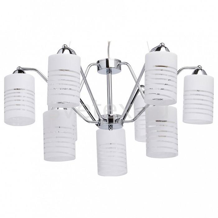 Подвесная люстра MW-LightЛюстры<br>Артикул - MW_300012709,Бренд - MW-Light (Германия),Коллекция - Техно,Гарантия, месяцы - 24,Высота, мм - 240-960,Диаметр, мм - 700,Тип лампы - компактная люминесцентная [КЛЛ] ИЛИнакаливания ИЛИсветодиодная [LED],Общее кол-во ламп - 9,Напряжение питания лампы, В - 220,Максимальная мощность лампы, Вт - 40,Лампы в комплекте - отсутствуют,Цвет плафонов и подвесок - белый полосатый,Тип поверхности плафонов - матовый,Материал плафонов и подвесок - стекло,Цвет арматуры - хром,Тип поверхности арматуры - глянцевый,Материал арматуры - металл,Количество плафонов - 9,Возможность подлючения диммера - можно, если установить лампу накаливания,Тип цоколя лампы - E14,Класс электробезопасности - I,Общая мощность, Вт - 360,Степень пылевлагозащиты, IP - 20,Диапазон рабочих температур - комнатная температура,Дополнительные параметры - способ крепления светильника к потолку - на монтажной пластине, регулируется по высоте<br>