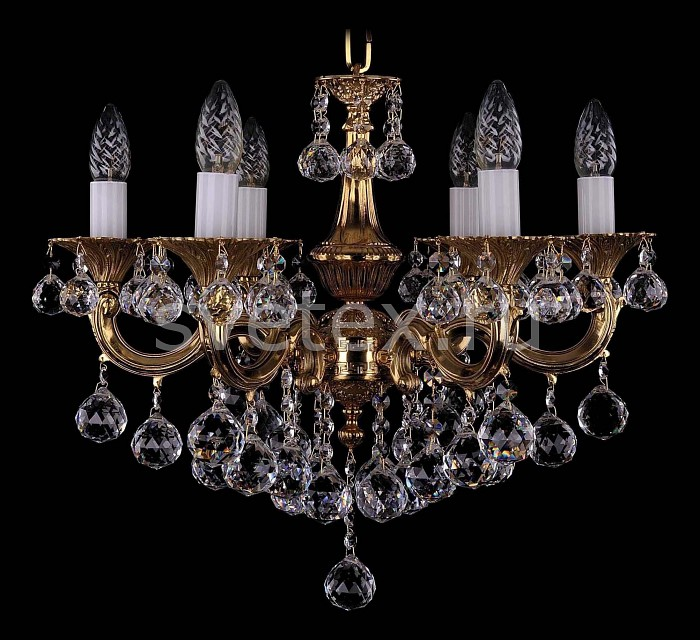Фото Подвесная люстра Bohemia Ivele Crystal 1701 1701/6/B/G/Balls