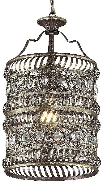 Подвесной светильник FavouriteБарные<br>Артикул - FV_1620-1P,Бренд - Favourite (Германия),Коллекция - Arabia,Гарантия, месяцы - 24,Высота, мм - 405-1140,Диаметр, мм - 200,Тип лампы - компактная люминесцентная [КЛЛ] ИЛИнакаливания ИЛИсветодиодная [LED],Общее кол-во ламп - 1,Напряжение питания лампы, В - 220,Максимальная мощность лампы, Вт - 60,Лампы в комплекте - отсутствуют,Цвет плафонов и подвесок - коричневый, неокрашенный,Тип поверхности плафонов - матовый, прозрачный,Материал плафонов и подвесок - металл, хрусталь,Цвет арматуры - коричневый, неокрашенный,Тип поверхности арматуры - матовый,Материал арматуры - металл,Количество плафонов - 1,Возможность подлючения диммера - можно, если установить лампу накаливания,Тип цоколя лампы - E27,Класс электробезопасности - I,Степень пылевлагозащиты, IP - 20,Диапазон рабочих температур - комнатная температура,Дополнительные параметры - способ крепления светильника к потолку - на монтажной пластине, регулируется по высоте<br>