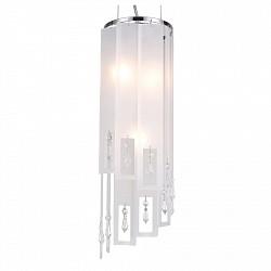 Подвесной светильник ST-LuceС 1 плафоном<br>Артикул - SL658.503.03,Бренд - ST-Luce (Китай),Коллекция - Cascata,Гарантия, месяцы - 24,Высота, мм - 530-1200,Диаметр, мм - 160,Размер упаковки, мм - 565х225х140,Тип лампы - компактная люминесцентная [КЛЛ] ИЛИнакаливания ИЛИсветодиодная [LED],Общее кол-во ламп - 3,Напряжение питания лампы, В - 220,Максимальная мощность лампы, Вт - 40,Лампы в комплекте - отсутствуют,Цвет плафонов и подвесок - белый, неокрашенный,Тип поверхности плафонов - матовый, прозрачный,Материал плафонов и подвесок - стекло, хрусталь,Цвет арматуры - хром,Тип поверхности арматуры - глянцевый,Материал арматуры - металл,Возможность подлючения диммера - можно, если установить лампу накаливания,Тип цоколя лампы - E14,Класс электробезопасности - I,Общая мощность, Вт - 120,Степень пылевлагозащиты, IP - 20,Диапазон рабочих температур - комнатная температура,Дополнительные параметры - регулируется по высоте,  способ крепления светильника к потолку – на крюке<br>