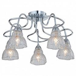 Люстра на штанге IDLamp5 или 6 ламп<br>Артикул - ID_864_5PF-Chrome,Бренд - IDLamp (Италия),Коллекция - 864,Гарантия, месяцы - 24,Высота, мм - 300,Диаметр, мм - 540,Тип лампы - компактная люминесцентная [КЛЛ] ИЛИнакаливания ИЛИсветодиодная [LED],Общее кол-во ламп - 5,Напряжение питания лампы, В - 220,Максимальная мощность лампы, Вт - 60,Лампы в комплекте - отсутствуют,Цвет плафонов и подвесок - неокрашенный,Тип поверхности плафонов - матовый, рельефный,Материал плафонов и подвесок - стекло,Цвет арматуры - хром,Тип поверхности арматуры - глянцевый,Материал арматуры - металл,Возможность подлючения диммера - можно, если установить лампу накаливания,Тип цоколя лампы - E14,Класс электробезопасности - I,Общая мощность, Вт - 300,Степень пылевлагозащиты, IP - 20,Диапазон рабочих температур - комнатная температура,Дополнительные параметры - способ крепления светильника к потолку — на монтажной пластине, если Вам нужно повесить светильник на крюк, укажите это в комментарии к заказу, - мы положим в подарок пластину с ушком для крюка<br>