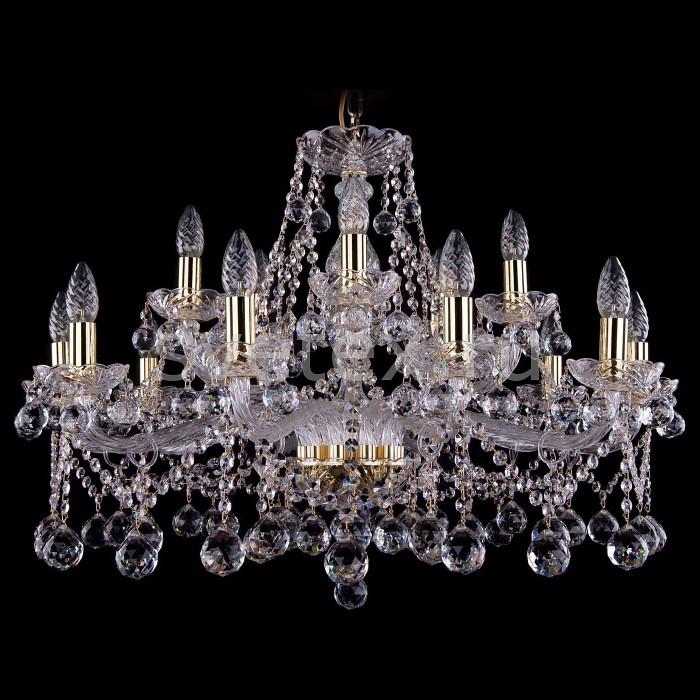 Подвесная люстра Bohemia Ivele CrystalБолее 6 ламп<br>Артикул - BI_1413_10_5_300_G_Balls,Бренд - Bohemia Ivele Crystal (Чехия),Коллекция - 1413,Гарантия, месяцы - 24,Высота, мм - 550,Диаметр, мм - 810,Размер упаковки, мм - 710x710x350,Тип лампы - компактная люминесцентная [КЛЛ] ИЛИнакаливания ИЛИсветодиодная [LED],Общее кол-во ламп - 15,Напряжение питания лампы, В - 220,Максимальная мощность лампы, Вт - 40,Лампы в комплекте - отсутствуют,Цвет плафонов и подвесок - неокрашенный,Тип поверхности плафонов - прозрачный,Материал плафонов и подвесок - хрусталь,Цвет арматуры - золото, неокрашенный,Тип поверхности арматуры - глянцевый, прозрачный,Материал арматуры - металл, стекло,Возможность подлючения диммера - можно, если установить лампу накаливания,Форма и тип колбы - свеча ИЛИ свеча на ветру,Тип цоколя лампы - E14,Класс электробезопасности - I,Общая мощность, Вт - 600,Степень пылевлагозащиты, IP - 20,Диапазон рабочих температур - комнатная температура,Дополнительные параметры - способ крепления светильника к потолку - на крюке, указана высота светильники без подвеса<br>