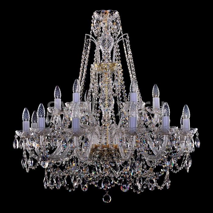 Фото Подвесная люстра Bohemia Ivele Crystal 1411 1411/12_6/300/G