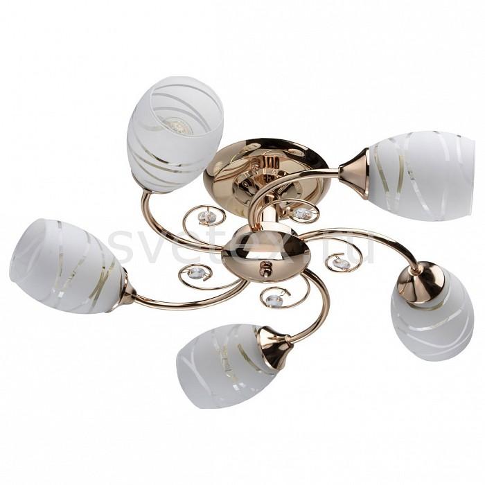 Люстра на штанге De MarktЛюстры<br>Артикул - MW_677011805,Бренд - De Markt (Германия),Коллекция - Грация 35,Гарантия, месяцы - 24,Высота, мм - 160,Диаметр, мм - 560,Тип лампы - компактная люминесцентная [КЛЛ] ИЛИнакаливания ИЛИсветодиодная [LED],Общее кол-во ламп - 5,Напряжение питания лампы, В - 220,Максимальная мощность лампы, Вт - 60,Лампы в комплекте - отсутствуют,Цвет плафонов и подвесок - белый полосатый, неокрашенный,Тип поверхности плафонов - матовый, прозрачный,Материал плафонов и подвесок - стекло,Цвет арматуры - золото,Тип поверхности арматуры - глянцевый,Материал арматуры - металл,Количество плафонов - 5,Возможность подлючения диммера - можно, если установить лампу накаливания,Тип цоколя лампы - E27,Класс электробезопасности - I,Общая мощность, Вт - 300,Степень пылевлагозащиты, IP - 20,Диапазон рабочих температур - комнатная температура,Дополнительные параметры - способ крепления светильника к потолку – на монтажной пластине<br>