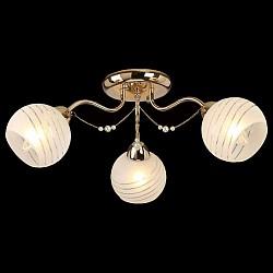Потолочная люстра EurosvetНе более 4 ламп<br>Артикул - EV_76630,Бренд - Eurosvet (Китай),Коллекция - Мелисса,Гарантия, месяцы - 24,Высота, мм - 220,Диаметр, мм - 600,Тип лампы - компактная люминесцентная [КЛЛ] ИЛИнакаливания ИЛИсветодиодная [LED],Общее кол-во ламп - 3,Напряжение питания лампы, В - 220,Максимальная мощность лампы, Вт - 60,Лампы в комплекте - отсутствуют,Цвет плафонов и подвесок - белый полосатый,Тип поверхности плафонов - матовый,Материал плафонов и подвесок - стекло,Цвет арматуры - золото,Тип поверхности арматуры - глянцевый,Материал арматуры - металл,Возможность подлючения диммера - можно, если установить лампу накаливания,Тип цоколя лампы - E27,Класс электробезопасности - I,Общая мощность, Вт - 180,Степень пылевлагозащиты, IP - 20,Диапазон рабочих температур - комнатная температура,Дополнительные параметры - способ крепления светильника к потолку - на монтажной пластине<br>