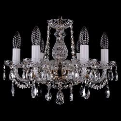 Подвесная люстра Bohemia Ivele Crystal5 или 6 ламп<br>Артикул - BI_1402_6_141_Pa,Бренд - Bohemia Ivele Crystal (Чехия),Коллекция - 1402,Гарантия, месяцы - 24,Высота, мм - 340,Диаметр, мм - 440,Размер упаковки, мм - 450x450x200,Тип лампы - компактная люминесцентная [КЛЛ] ИЛИнакаливания ИЛИсветодиодная [LED],Общее кол-во ламп - 6,Напряжение питания лампы, В - 220,Максимальная мощность лампы, Вт - 40,Лампы в комплекте - отсутствуют,Цвет плафонов и подвесок - неокрашенный,Тип поверхности плафонов - прозрачный,Материал плафонов и подвесок - хрусталь,Цвет арматуры - неокрашенный, патина,Тип поверхности арматуры - глянцевый, прозрачный,Материал арматуры - металл, стекло,Возможность подлючения диммера - можно, если установить лампу накаливания,Форма и тип колбы - свеча,Тип цоколя лампы - E14,Класс электробезопасности - I,Общая мощность, Вт - 240,Степень пылевлагозащиты, IP - 20,Диапазон рабочих температур - комнатная температура,Дополнительные параметры - способ крепления светильника к потолку – на крюке<br>