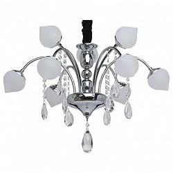 Подвесная люстра MW-LightСветодиодные<br>Артикул - MW_308010709,Бренд - MW-Light (Германия),Коллекция - Нанси,Гарантия, месяцы - 24,Высота, мм - 660-1510,Диаметр, мм - 600,Тип лампы - светодиодная [LED],Общее кол-во ламп - 9,Напряжение питания лампы, В - 220,Максимальная мощность лампы, Вт - 3,Лампы в комплекте - светодиодные [LED],Цвет плафонов и подвесок - белый, неокрашенный,Тип поверхности плафонов - матовый, прозрачный,Материал плафонов и подвесок - стекло, хрусталь,Цвет арматуры - хром,Тип поверхности арматуры - глянцевый,Материал арматуры - металл,Класс электробезопасности - I,Общая мощность, Вт - 27,Степень пылевлагозащиты, IP - 20,Диапазон рабочих температур - комнатная температура,Дополнительные параметры - способ крепления светильника на потолке - на крюке<br>
