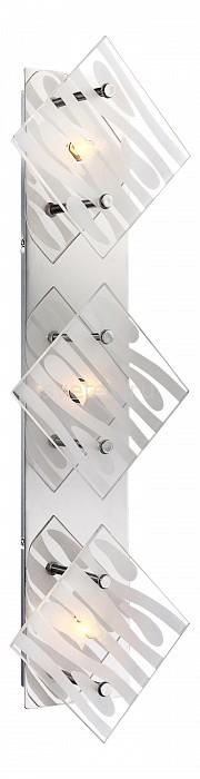 Накладной светильник GloboНастенные светильники<br>Артикул - GB_48694-3,Бренд - Globo (Австрия),Коллекция - Carat,Гарантия, месяцы - 24,Длина, мм - 550,Ширина, мм - 170,Выступ, мм - 78,Размер упаковки, мм - 140x100x510,Тип лампы - галогеновая,Общее кол-во ламп - 3,Напряжение питания лампы, В - 220,Максимальная мощность лампы, Вт - 33,Цвет лампы - белый теплый,Лампы в комплекте - галогеновые G9,Цвет плафонов и подвесок - неокрашенный полосатый,Тип поверхности плафонов - матовый, прозрачный,Материал плафонов и подвесок - стекло,Цвет арматуры - хром,Тип поверхности арматуры - глянцевый,Материал арматуры - металл,Количество плафонов - 3,Возможность подлючения диммера - можно,Форма и тип колбы - пальчиковая,Тип цоколя лампы - G9,Цветовая температура, K - 2800 - 3200 K,Экономичнее лампы накаливания - на 50%,Класс электробезопасности - I,Общая мощность, Вт - 99,Степень пылевлагозащиты, IP - 20,Диапазон рабочих температур - комнатная температура,Дополнительные параметры - способ крепления светильника к стене и потолку - на монтажной пластине<br>