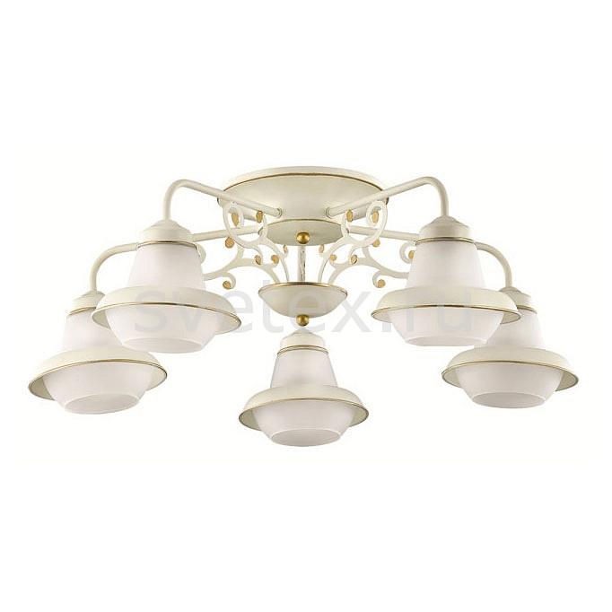 Потолочная люстра LumionЛюстры<br>Артикул - LMN_3105_5C,Бренд - Lumion (Италия),Коллекция - Tefida,Гарантия, месяцы - 24,Высота, мм - 230,Диаметр, мм - 660,Размер упаковки, мм - 250x630x330,Тип лампы - компактная люминесцентная [КЛЛ] ИЛИнакаливания ИЛИсветодиодная [LED],Общее кол-во ламп - 5,Напряжение питания лампы, В - 220,Максимальная мощность лампы, Вт - 60,Лампы в комплекте - отсутствуют,Цвет плафонов и подвесок - белый с каймой,Тип поверхности плафонов - матовый,Материал плафонов и подвесок - стекло,Цвет арматуры - белый с золотой патиной,Тип поверхности арматуры - матовый,Материал арматуры - металл,Количество плафонов - 5,Возможность подлючения диммера - можно, если установить лампу накаливания,Тип цоколя лампы - E27,Класс электробезопасности - I,Общая мощность, Вт - 300,Степень пылевлагозащиты, IP - 20,Диапазон рабочих температур - комнатная температура,Дополнительные параметры - способ крепления к потолку - на монтажной пластине<br>