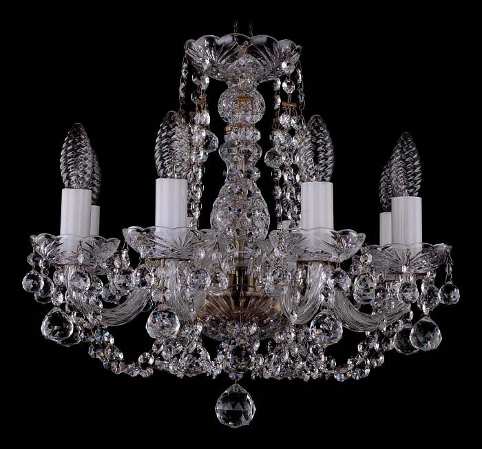 Фото Подвесная люстра Bohemia Ivele Crystal 1406 1406/8/141/Pa/Balls